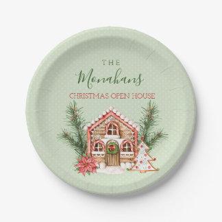 Prato De Papel Casa de pão-de-espécie do Natal do país