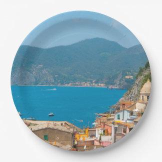 Prato De Papel Cinque Terre no Riviera italiano