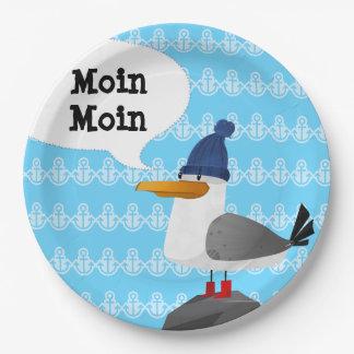 """Prato De Papel De """"gaivota Moin Moin"""""""