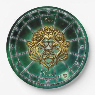Prato De Papel Design da astrologia do zodíaco de Leo