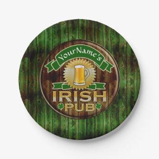 Prato De Papel Dia de São Patrício irlandês do sinal do bar do