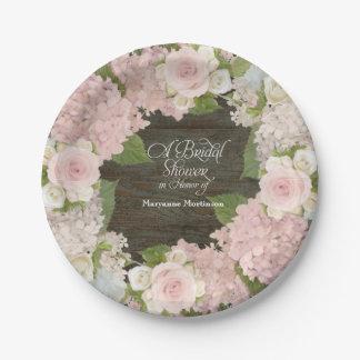 Prato De Papel Dos rosas cor-de-rosa do Hydrangea do chá de