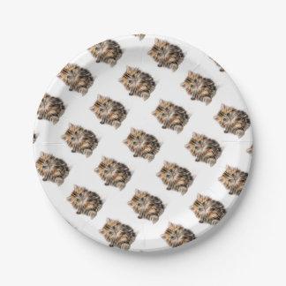 Prato De Papel escala do design do fractal do gatinho
