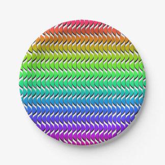 Prato De Papel Escalas coloridas