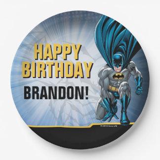 Prato De Papel Feliz aniversario de Batman  