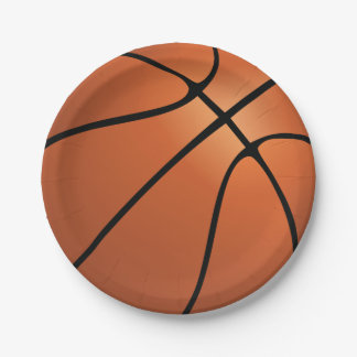 Prato De Papel Festa de aniversário do basquetebol dos esportes