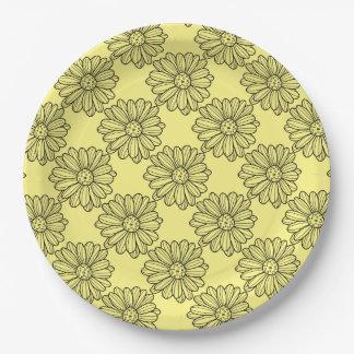 Prato De Papel Flor da margarida