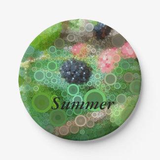 Prato De Papel Fontes selvagens do partido do verão de Blackberry