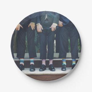 Prato De Papel HAMbyWG - placa de papel - homens nas meias