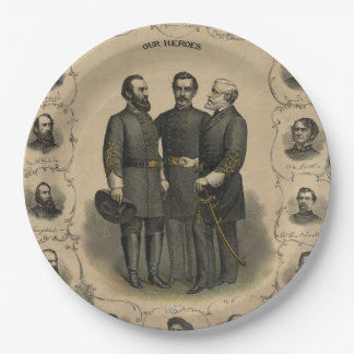 Prato De Papel Heróis da guerra civil