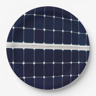 Prato De Papel Imagem de um painel de energias solares engraçado