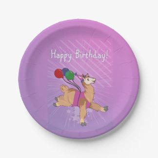 Prato De Papel Lama do feliz aniversario!