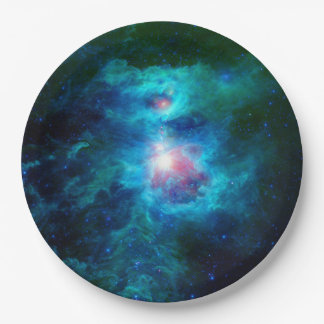 Prato De Papel Lareira cósmica Azul