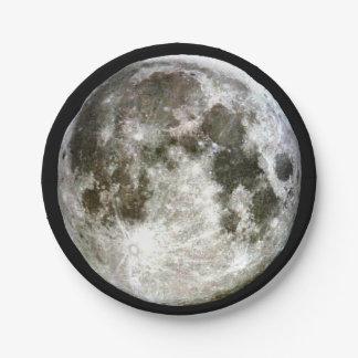 Prato De Papel Lua cheia