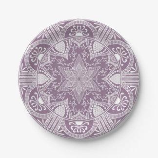 Prato De Papel Mandala das glicínias