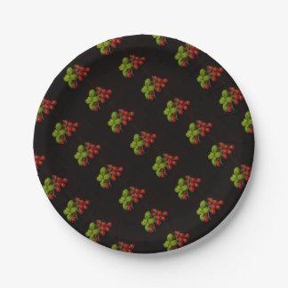 Prato De Papel Manjericão dos tomates de cereja