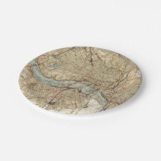 Prato De Papel Mapa do vintage de Richmond Virgínia (1934)