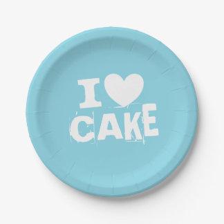 Prato De Papel Mim fontes temáticos azuis do partido do bolo do