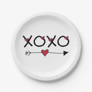 Prato De Papel Namorados de XOXO