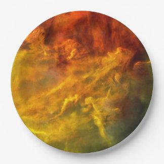 Prato De Papel Nebulosa da lagoa