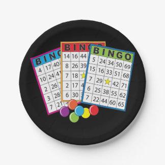 Prato De Papel O Bingo carda as placas de papel