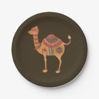 Prato De Papel O camelo étnico