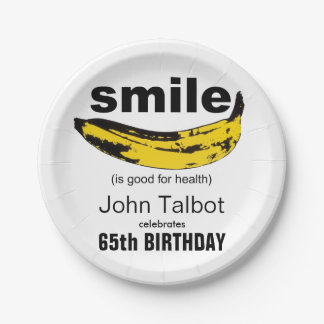 Prato De Papel O sorriso é placas de papel da boa 65th festa de