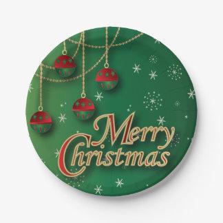Prato De Papel Ornamento festivos do Feliz Natal