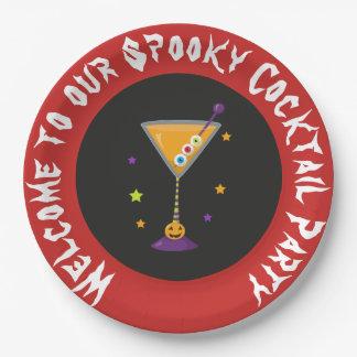 Prato De Papel Partido de cocktail assustador do Dia das Bruxas
