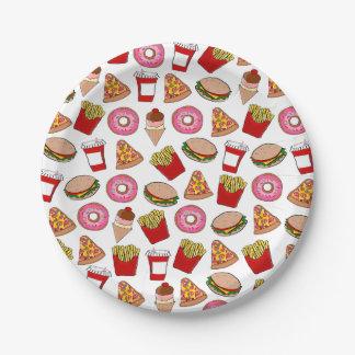 Prato De Papel Partido do fast food