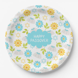 Prato De Papel Passover floral Sedar da primavera