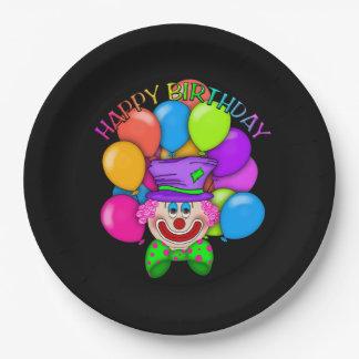 Prato De Papel Placa de papel adulta do palhaço do aniversário