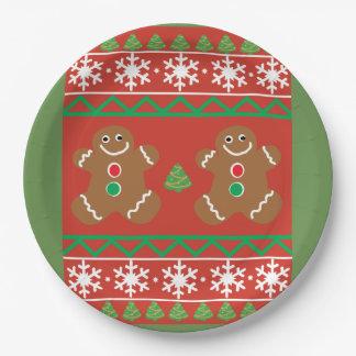 Prato De Papel Placa de papel da camisola feia do Natal