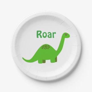 Prato De Papel Placa de papel do partido do dinossauro