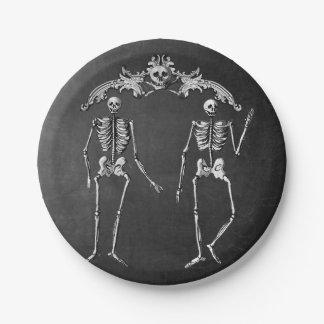 Prato De Papel Placa de papel Glam de esqueleto