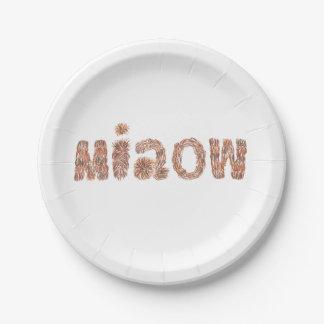 """Prato De Papel Placas de papel 7"""" com 'miaow"""