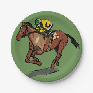 Prato De Papel Placas de papel da corrida de cavalos