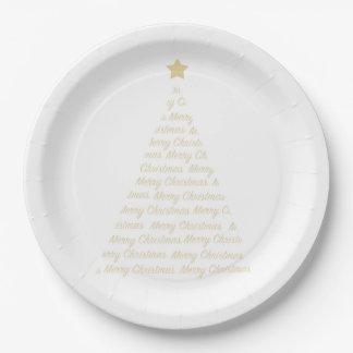 Prato De Papel Placas de papel de árvore de Natal