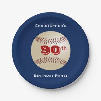 Prato De Papel Placas de papel do basebol, festa de aniversário
