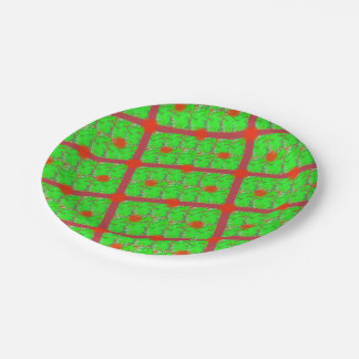 Prato De Papel Placas de papel do Natal iridescente