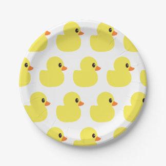 """Prato De Papel Placas de papel """"Ducky"""" de borracha"""
