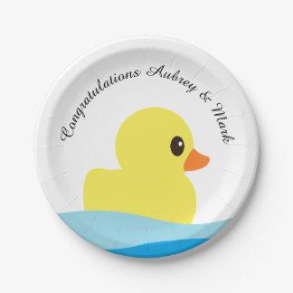"""Prato De Papel Placas de papel personalizadas """"Ducky"""" de borracha"""