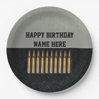 Prato De Papel Placas do partido do nome do aniversário dos