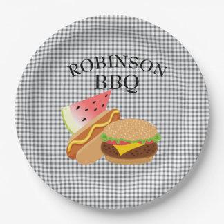 Prato De Papel Placas personalizadas do hamburguer, do Hotdog &