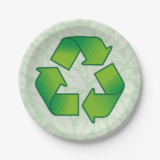 Prato De Papel Símbolo do reciclagem