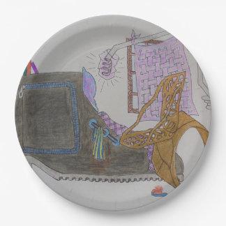 Prato De Papel Sofá e cadeira no interior