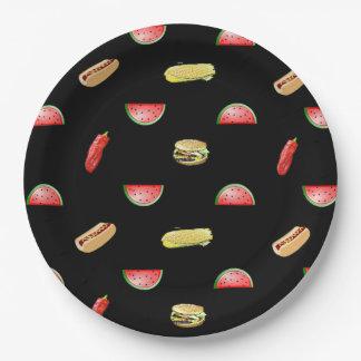 Prato De Papel Tablecloth preto dos vegetarianos e dos