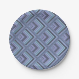 Prato De Papel teste padrão Azul-cinzento da escala das listras