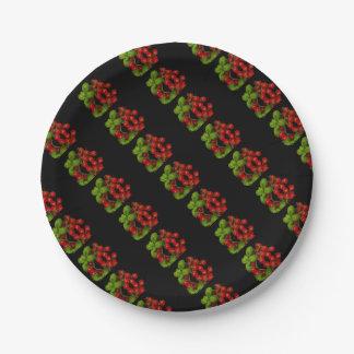 Prato De Papel Tomates de cereja vermelhos frescos