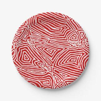 Prato De Papel Vermelho de Scribbleprints